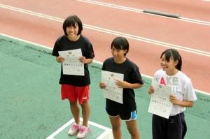 東京ジュニアA100mH表彰式