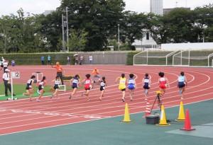 渋谷区ジュニア女子800m予選