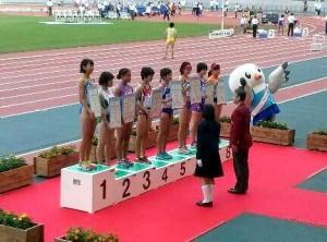 国体100mH表彰
